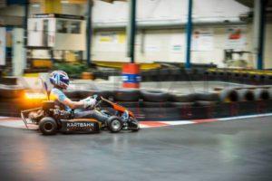 Dirk Müller fährt ein Paar Runden auf der Kartbahn Fimmelsberg