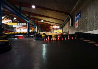 Bau der Über und Unterführung auf der Kartbahn Fimmelsberg